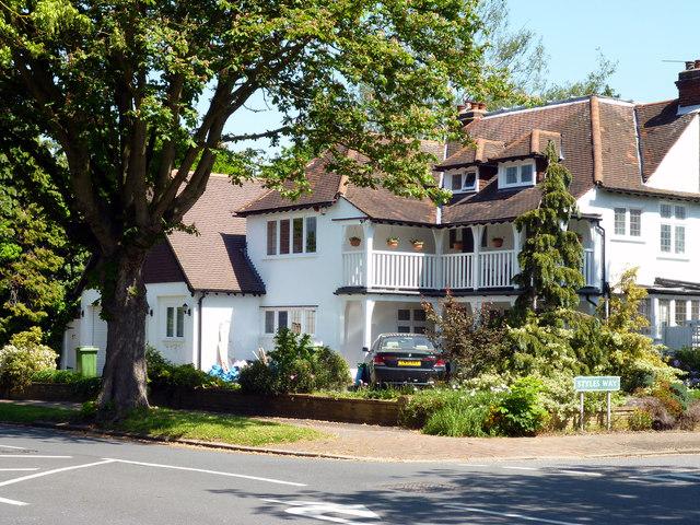 Beckenham:  corner of Styles Way and Wickham Way