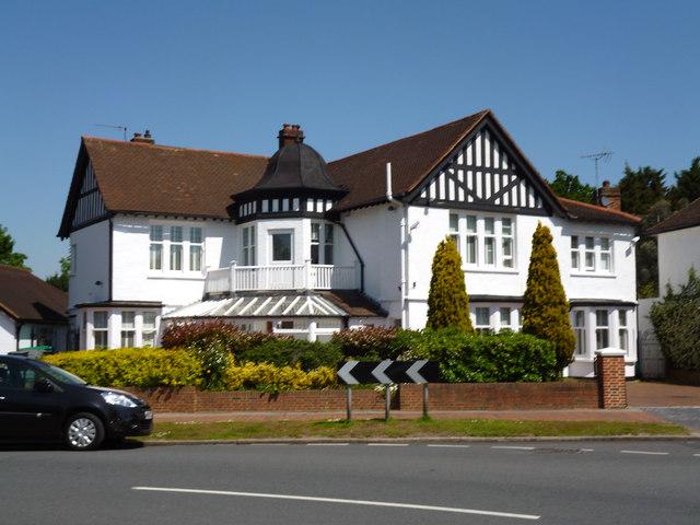 Beckenham:  Corner of Hayes Way and Wickham Way