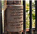 J3380 : Old boundary post, Whitewell, Belfast (2) by Albert Bridge