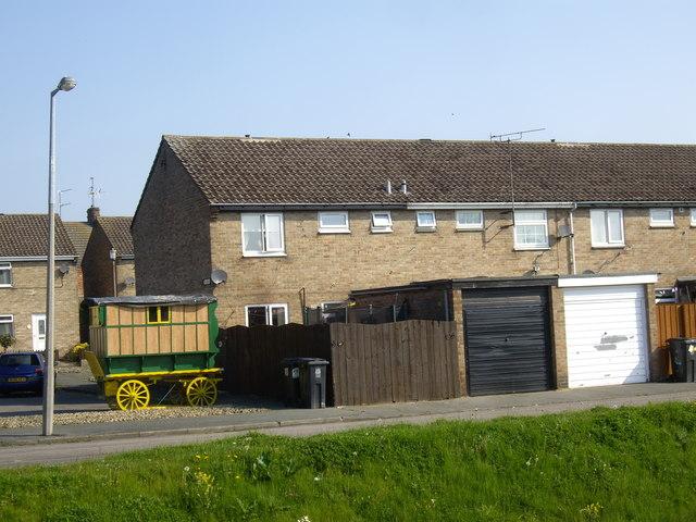 Terraced housing in Oakley Green