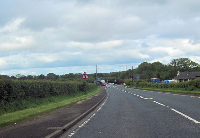 A683  west approaching M6 junction 34