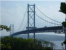 NT1279 : The Forth Road Bridge from North Queensferry by kim traynor