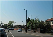 SJ8588 : Junction of the A560 and A34 near Cheadle, Greater Manchester by Steve  Fareham