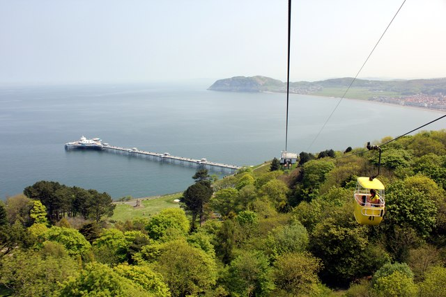 View from Llandudno Cable Car