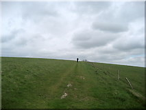 TQ4405 : South Downs Way between Itford  and Beddingham Hills by Chris Heaton
