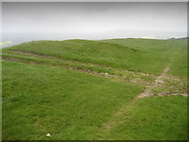 TQ4805 : Tracks and Tumulus on Firle Beacon by Chris Heaton