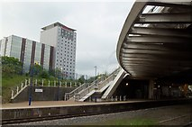 TQ1885 : Wembley Park Station and Ibis Hotel, near Wembley Stadium by Terry Robinson