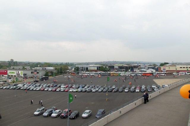 Car and Coach park at Wembley Stadium