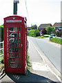 TM2994 : K6 telephone box at the corner of The Street, Woodton by Evelyn Simak