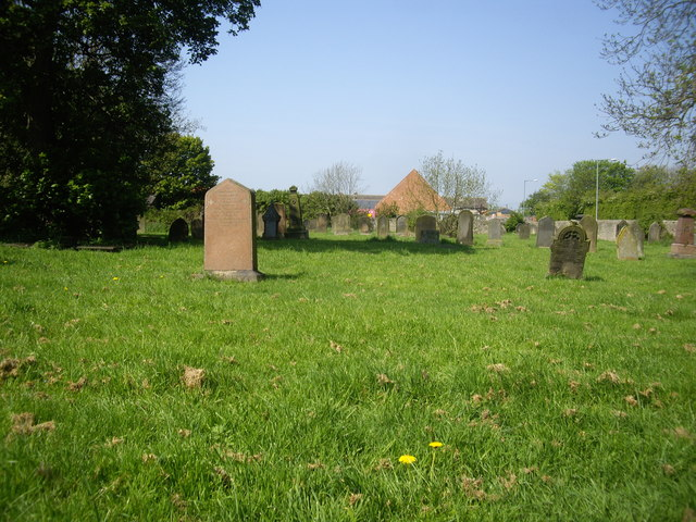 View over the graveyard wall