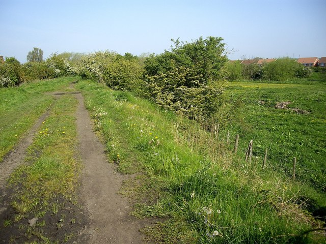 Path along former wagonway embankment