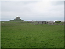 NU1341 : View towards Lindisfarne Castle from the end of Green Lane by Jonathan Thacker