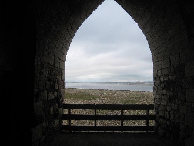View from a limekiln near Lindisfarne Castle