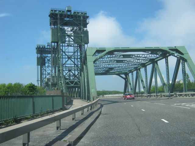 The Newport Bridge carrying the A1032 over the River Tees