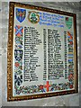 SU0268 : List of Rectors, Church of St Mary, Calstone Wellington by Brian Robert Marshall