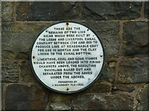 SD8432 : Plaque, Leeds and Liverpool Canal by Alexander P Kapp
