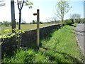 SK0551 : Public footpath sign, Blackbrook by Christine Johnstone