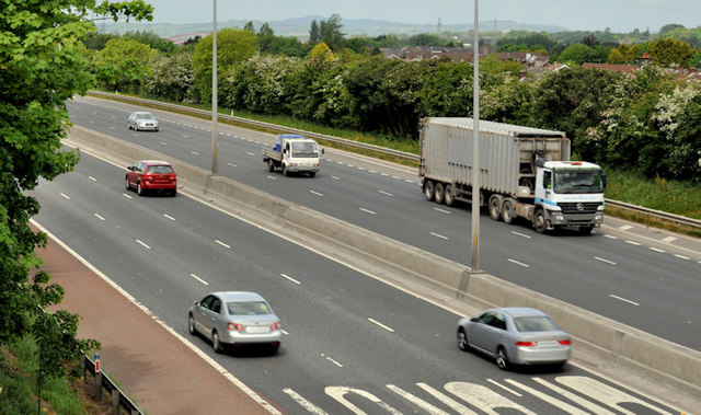 The M2 hill section, Glengormley