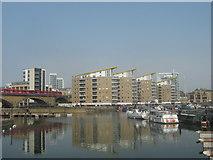 TQ3681 : Basin Heights, Limehouse Basin by David Anstiss