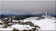 NG9422 : Summit area of Sgurr an Airgid by Trevor Littlewood