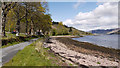 NG9021 : Minor road at shore of Loch Duich by Trevor Littlewood