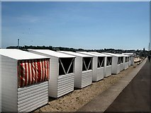 SY6879 : Beach Huts - Weymouth by Paul Gillett