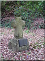 SW7752 : Ancient cross in the churchyard of St Piran's Church Penhallow by Rod Allday