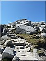 NR9941 : Looking up at Goatfell's summit by Rob Farrow