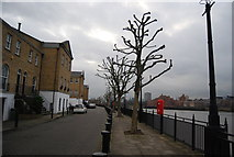 TQ3680 : Thames Path, Sovereign Crescent by N Chadwick