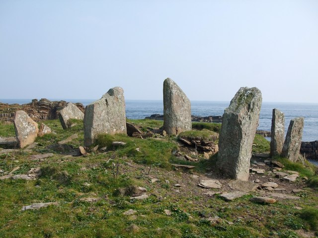 Chambered Cairn on the Tarf, Swona, Orkney Islands