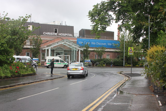 The Christie Hospital, Wilmslow Road entrance