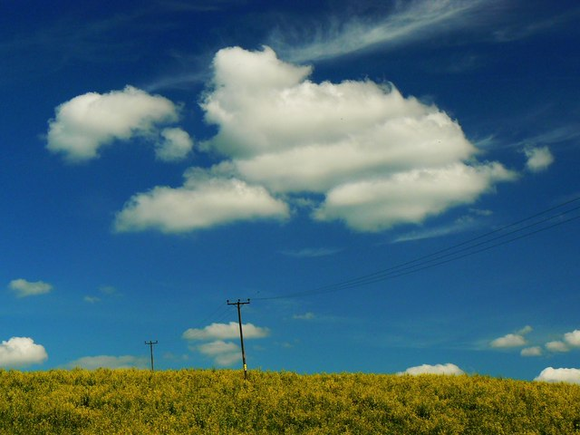 Clouds and blue skies over Rockley