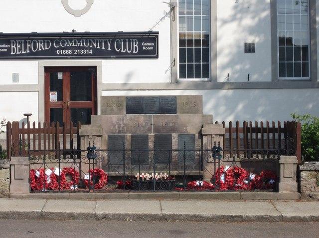 Belford War Memorial