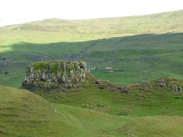Looking across to Castle Ewen