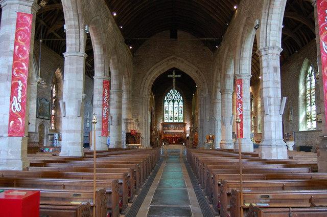 Interior, St Michael & All Angels' church, Ledbury