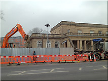 SP3165 : Excavations outside the Royal Pump Rooms by Robin Stott