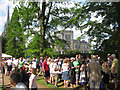 SP9912 : Crowds at a Fete in the Gardens at Ashridge House by Chris Reynolds