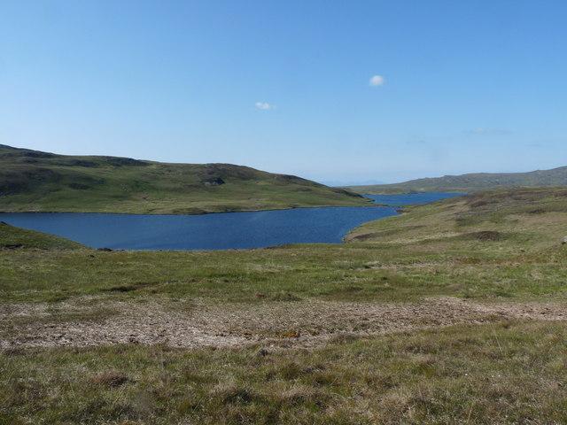 Loch Righ Meadhonach and Loch Righ Mor on Jura