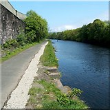 NS3980 : Site of old ferry crossing on the River Leven by Lairich Rig