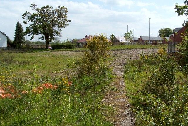 Former course of railway line (Dalquhurn Works)