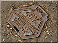 J5179 : Brickhouse stop valve cover, Bangor by Albert Bridge