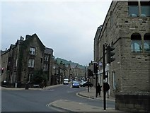 SD9927 : Looking down Albert Street Hebden Bridge by Steve  Fareham