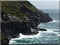 SX0588 : Cliffs near Tintagel Head by Chris Gunns