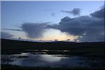 HP6312 : Passing showers, dusk, Haroldswick pools by Mike Pennington
