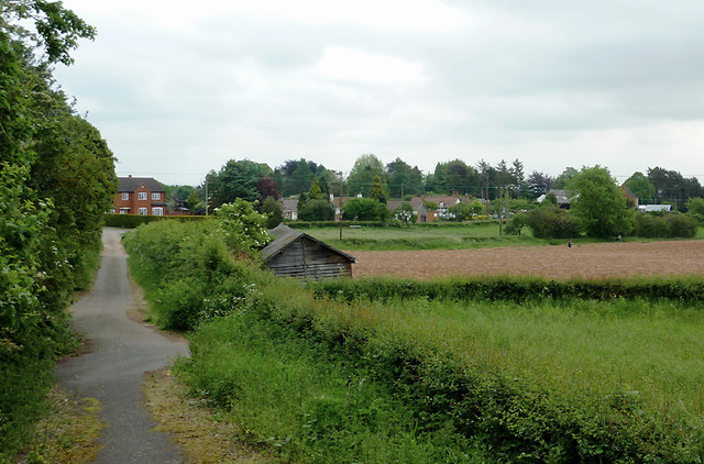 Footpath and fields near Crossway Green, Worcestershire