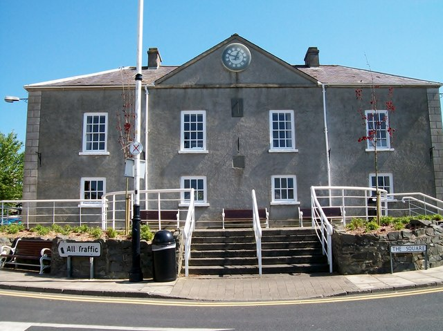 The rear of Portaferry's Market House