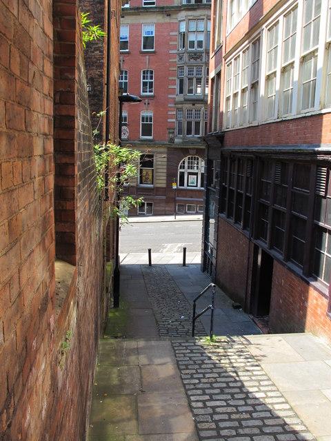 Steps down to Dean Street, NE1 (2)