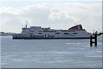 SJ3290 : The Ferry to Belfast, Stena Mersey, River Mersey by El Pollock