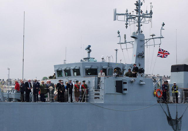 HMS 'Bangor' at Bangor
