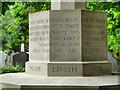 SJ6899 : Cross of Sacrifice - Base by David Dixon